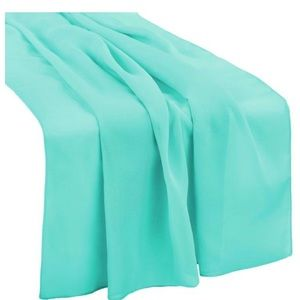 Set of Three Turquoise Chiffon Table Runners